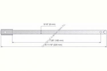 Metal Seals MBS 8001 Dimension
